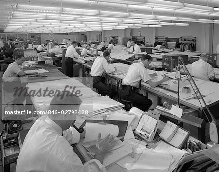 1960s MEN IN ENGINEERING OFFICE AT DRAFTING TABLES Stock Photo - Rights-Managed, Image code: 846-02792428