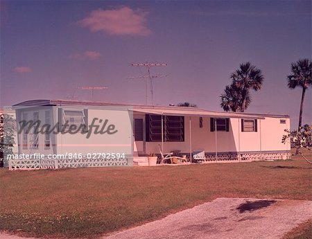 1960s MOBILE HOME TRAILER PARK Stock Photo - Rights-Managed, Image code: 846-02792594