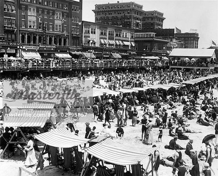 1920s ATLANTIC CITY NEW JERSEY USA BEACH & BOARDWALK Stock Photo - Rights-Managed, Image code: 846-02795857