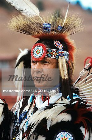 INDIAN DANCER AT INTER TRIBAL CEREMONIAL DANCE GALLUP, NM Stock Photo - Rights-Managed, Image code: 846-03164684