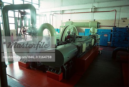 1970s INTERIOR FACTORY MACHINERY GENERATOR IN AUTOMOBILE PLANT Stock Photo - Rights-Managed, Image code: 846-03164738