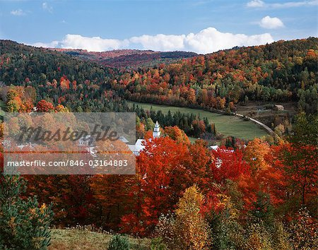 EAST TOPSHAM, VERMONT SCENIC VIEW OF COUNTRY TOWN IN AUTUMN Stock Photo - Rights-Managed, Image code: 846-03164883