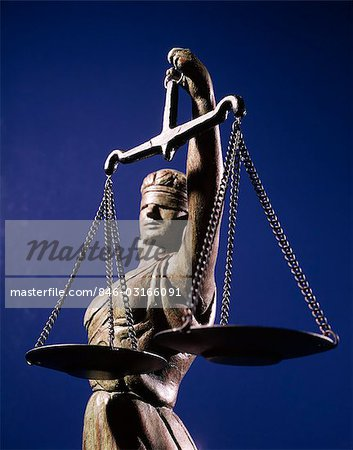 SCALES JUSTICE STATUE BLIND Stock Photo - Rights-Managed, Image code: 846-03166091