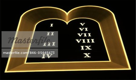 SYMBOLIC TEN COMMANDMENTS TABLETS MOSES Stock Photo - Rights-Managed, Image code: 846-05645673