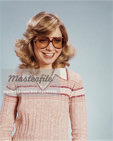 1970s PORTRAIT WOMAN WEARING TINTED EYEGLASSES Stock Photo - Rights-Managed, Image code: 846-05646990
