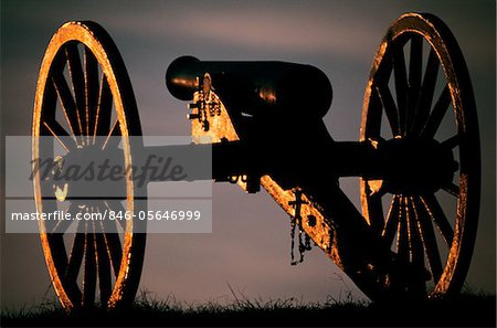 1860s SILENT AMERICAN CIVIL WAR ARTILLERY CANNON BULL RUN BATTLEFIELD VIRGINIA USA Stock Photo - Rights-Managed, Image code: 846-05646999