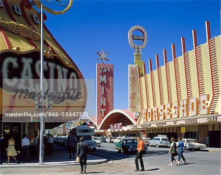 1950s FREMONT STREET, LAS VEGAS, NV CASINO GAMBLING Stock Photo - Rights-Managed, Image code: 846-05647375
