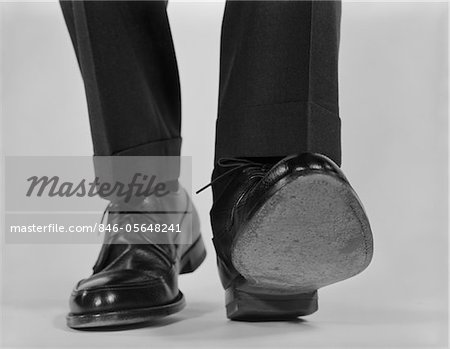 1960s CLOSE-UP MALE FEET SHOES WALKING Stock Photo - Rights-Managed, Image code: 846-05648241