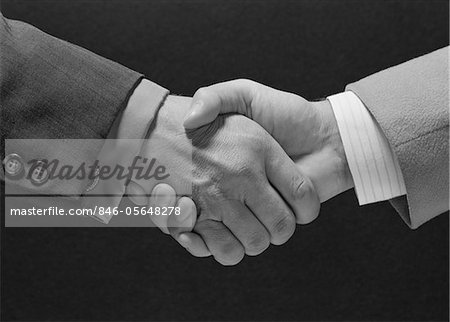 1960s MALE HANDSHAKE Stock Photo - Rights-Managed, Image code: 846-05648278