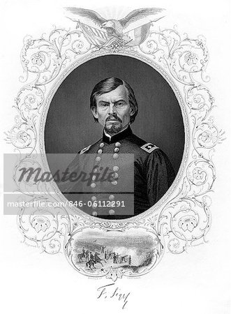 1800s 1860s PORTRAIT GERMAN BORN GENERAL FRANZ SIGEL BATTLE OF CARTHAGE MISSOURI 1861 Stock Photo - Rights-Managed, Image code: 846-06112291