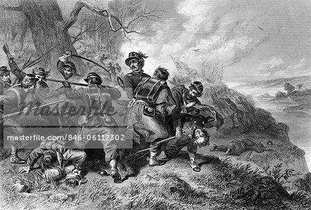 1800s 1860s BATTLE OF BALL'S BLUFF VA VIRGINIA OCTOBER 21 1861 CONFEDERATE VICTORY Stock Photo - Rights-Managed, Image code: 846-06112302