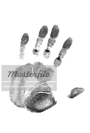 1980s LEFT HAND PALM PRINT ON WHITE PAPER Stock Photo - Rights-Managed, Image code: 846-07760760