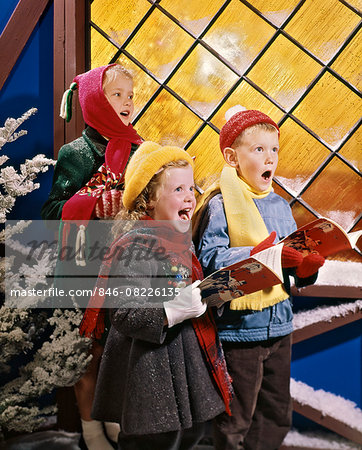 1980s KIDS SINGING CHRISTMAS CAROLS Stock Photo - Rights-Managed, Image code: 846-08226135