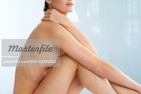 Body of beautiful naked woman sitting up Stock Photo - Rights-Managed, Image code: 847-02782412