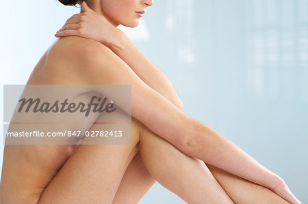 Body of beautiful naked woman sitting up Stock Photo - Rights-Managed, Image code: 847-02782413