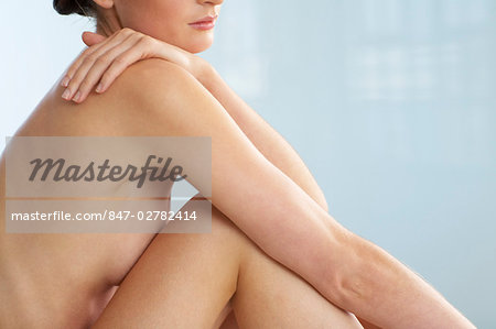 Body of beautiful naked woman sitting up Stock Photo - Rights-Managed, Image code: 847-02782414