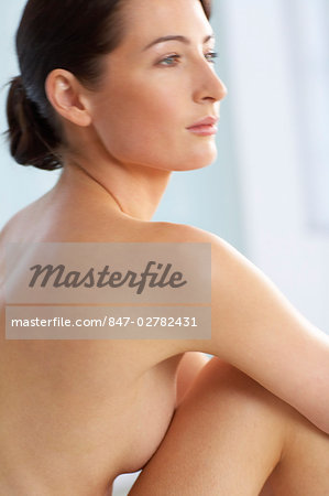 Beautiful naked woman sitting up Stock Photo - Rights-Managed, Image code: 847-02782431