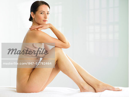 Beautiful naked woman sitting up Stock Photo - Rights-Managed, Image code: 847-02782464