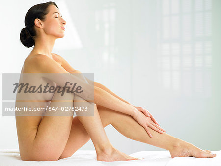 Beautiful naked woman sitting up Stock Photo - Rights-Managed, Image code: 847-02782473