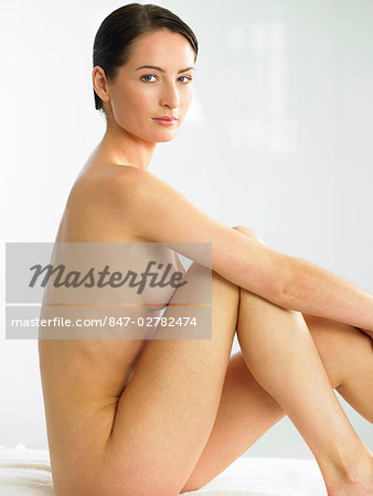 Beautiful naked woman sitting up Stock Photo - Rights-Managed, Image code: 847-02782474