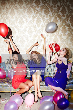 Group of three fun females Stock Photo - Rights-Managed, Image code: 847-03227448
