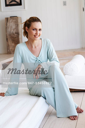 Pretty lady relaxing in leisure wear. Stock Photo - Rights-Managed, Image code: 847-03450622
