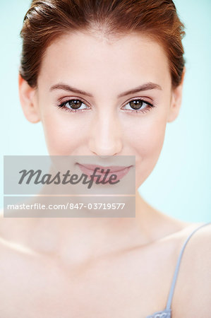 Portrait of radiant girl with glowing skin Stock Photo - Rights-Managed, Image code: 847-03719577