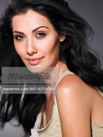 Portrait of radiant girl with glowing skin Stock Photo - Rights-Managed, Image code: 847-03719725
