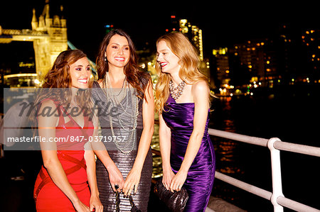 Girls night out in London by Tower Bridge Stock Photo - Rights-Managed, Image code: 847-03719757