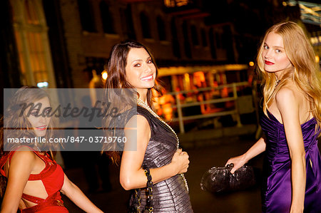 Girls night out in London Stock Photo - Rights-Managed, Image code: 847-03719760