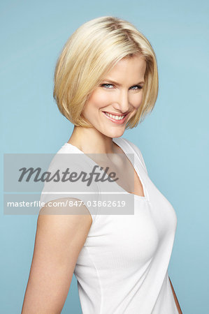 Portrait of beautiful mature blonde woman Stock Photo - Rights-Managed, Image code: 847-03862619