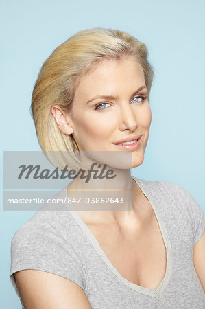 Portrait of beautiful mature blonde woman Stock Photo - Rights-Managed, Image code: 847-03862643