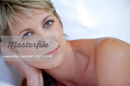 Close up beauty shot of mature woman Stock Photo - Rights-Managed, Image code: 847-05606990