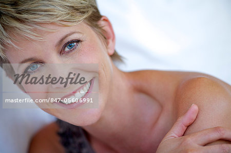 Close up beauty shot of mature woman Stock Photo - Rights-Managed, Image code: 847-05606991
