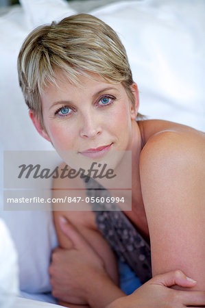 Beauty shot of mature woman Stock Photo - Rights-Managed, Image code: 847-05606994