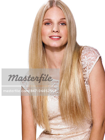 Portrait of a beautiful blonde girl Stock Photo - Rights-Managed, Image code: 847-06052568