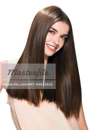 Portrait of a beautiful brunette Stock Photo - Rights-Managed, Image code: 847-06052610