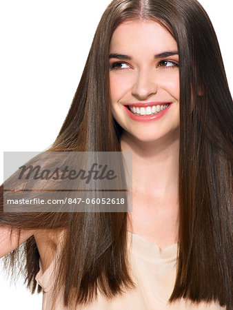 Portrait of a beautiful brunette Stock Photo - Rights-Managed, Image code: 847-06052618