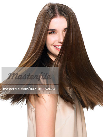 Portrait of a beautiful brunette Stock Photo - Rights-Managed, Image code: 847-06052624