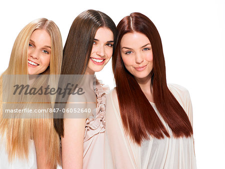 Three friends with beautiful hair Stock Photo - Rights-Managed, Image code: 847-06052640