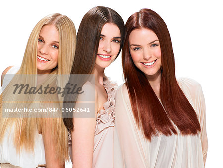 Three friends with beautiful hair Stock Photo - Rights-Managed, Image code: 847-06052641