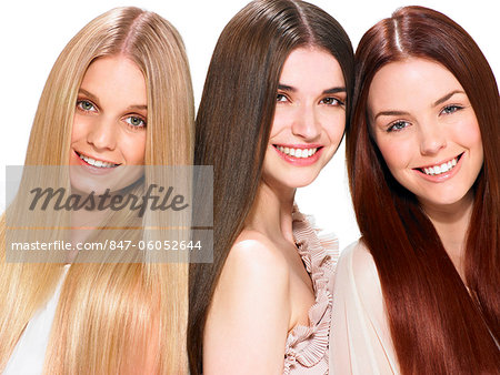 Three friends with beautiful hair Stock Photo - Rights-Managed, Image code: 847-06052644
