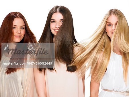 Three friends with beautiful hair Stock Photo - Rights-Managed, Image code: 847-06052649