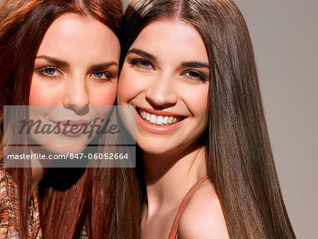Two friends with beautiful hair Stock Photo - Rights-Managed, Image code: 847-06052664