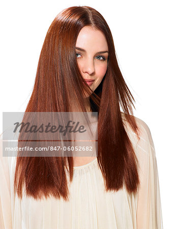 Beautiful red-haired girl Stock Photo - Rights-Managed, Image code: 847-06052682
