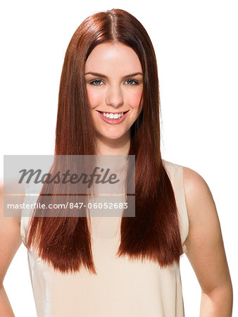 Beautiful red-haired girl Stock Photo - Rights-Managed, Image code: 847-06052683