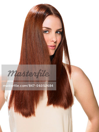 Beautiful red-haired girl Stock Photo - Rights-Managed, Image code: 847-06052684