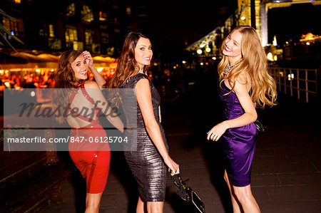 Girls night out in London by Tower Bridge Stock Photo - Rights-Managed, Image code: 847-06125704