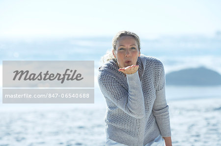 Healthy mature woman standing by sea Stock Photo - Rights-Managed, Image code: 847-06540688