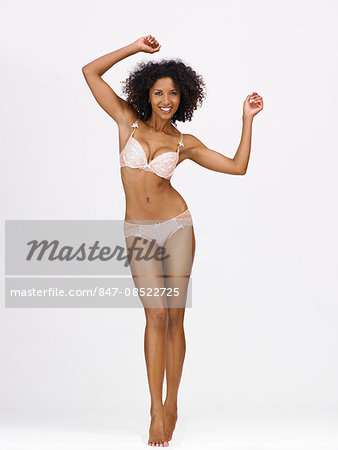 Full-length body shot of afro-caribbean woman Stock Photo - Rights-Managed, Image code: 847-08522725